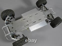 Bumper Avant Et Arrière En Aluminium + Plaque De Châssis Tamiya 1/10 Scorcher Champ