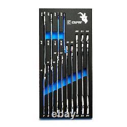 Capri Tools Super-thin End Wrench Set, Métrique Et Sae, 14 Pièces