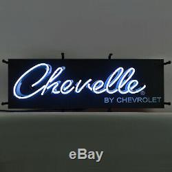 Chevelle Signe Neon Chevy Ss 350 V8 Gm Chevrolet Super Sport Boutique Lumière De La Lampe 454