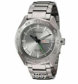Citizen Eco-drive Titanium Super Calendrier Hommes 44mm Bracelet Montre Aw0060-54a