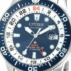 Citizen Promaster Marine Bj7111-86l Eco-drive Super Titanium Hommes Montre De Plongée