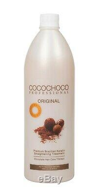 Cocochoco Lissage Des Cheveux Kératine Du Traitement Brésilien 1l Superbe Finition Brillante