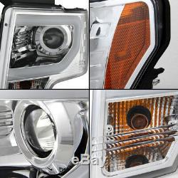 Convient Aux Phares Pour Projecteurs À Tube Drl Led Ford F150 F-150 Super Bright 2009-2014