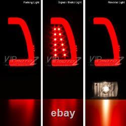 Darkest Fumée Noire Pour 97-03 F150 F250 Superdust Neon Tube Led Tail Light