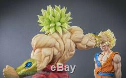 Dbz Dragon Ball Z Super Saiyan Broli Vs Son Goku Statue Painted En Stock Figure