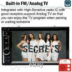 Double 2din 6.2 Car Stereo CD Mp3 Lecteur DVD Radio Bluetooth + Caméra De Recul Us