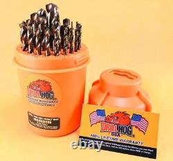Drill Hog 29 Pc Super Premium Cobalt M42+ Drill Bits Orange Garantie À Vie