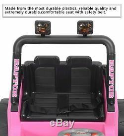 Électrique 12v Enfants Batterie Tour Sur La Voiture Jouet Jeep Batterie Roue À Distance Rose Contrôle