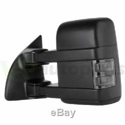Électrique Chauffé Fumée Clignotants Lumière Pour 99-07 Ford F250 Super Duty Remorquage Miroirs