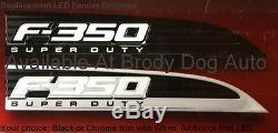 Emblèmes De Pare-chocs Éclairés Super Puissants F350 Led De Ford 2011,12,13,14,15,16 Par Recon