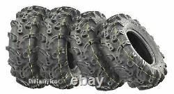 Ensemble De 4 Wanda Premium Atv Utv Tires 27x9-12 27x9x12 6pr Super Lug Mud