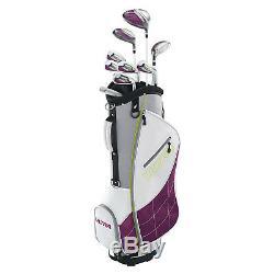 Ensemble De Golf Wilson Long Ultra Pour Femmes Ultra Longues, Droitier, Avec Sac De Rangement, Prune