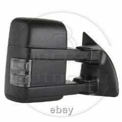 Ensemble De Paires Pour 99-16 F250-f550 Super Duty Manual Tow Led Signal Light Side Mirrors