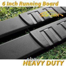 Fit 2015-2021 Ford F150 Super Crew Cab 6 Running Board Nerf Bar Side Step Blk H