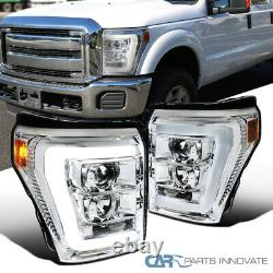 Fit Ford 11-16 F250 F350 F450 F550 Super Duty Clear Led Bar Projecteur Phares