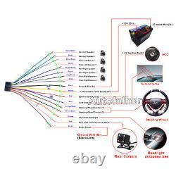 Fit Objectif Sony Double Din Car Stereo Radio Lecteur DVD Bluetooth Tv Miroir Pour Gps