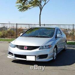 Fit Pour 09-11 Honda CIVIC Coupé Hf-p Pare-chocs Avant Lèvres Matériau Pu