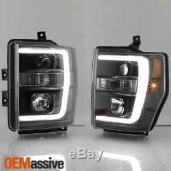 Fits 2008-2010 Noir Ford F250 / 350/450 Super Duty Light Bar Projecteur Phares