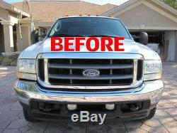 Ford 05 06 07 Chrome Grille, Conversion Convient 1999-2004 Super Duty F250 F350 F450