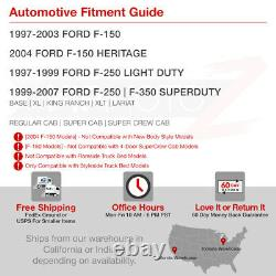 Ford 97-03 F150 99-07 F250/f350/f450 Sd Super Duty Truck Smoke Tail Lights Led