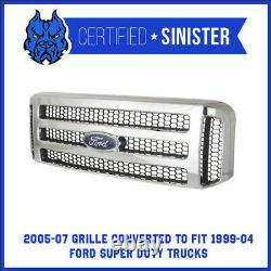 Ford Chrome 05-07 Super Duty / Excursion Grille S'adapte 99-04