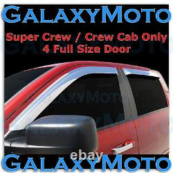 Ford F150 Super Crew Crew Cab Chrome 4pc Ensemble Window Vent Visor Rain Sun Guard