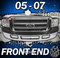 Ford Full 05-07 Front End Conversion S'adapte 99-04 Super Duty Chrome Grille Pare-chocs