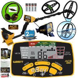 Garrett Ace 400 Détecteur De Métaux Avec 8,5 X 11 DD Coil Et 3 Accessoires Étanche