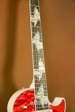 Gibson Les Paul Super-custom Papillon Rose Guitare Électrique Ultima