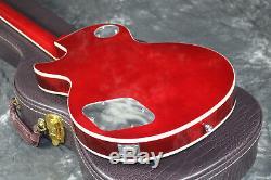 Guitare Électrique Ace Frehley Signature Figured Maple Top Cherry Burst Grover Top
