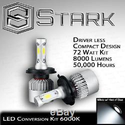 H6024 Head Light Verre Boîtier De Lampe Classique Chrome 7 Ronde Led Convesion Kit -a