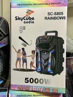 Haut-parleur Bluetooth Portable 8+1 Twitter 5000 Watts P.m. P. O Remote MIC Super Bass