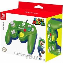 Hori Nintendo Commutateur Bataille Contrôleur De Pad Pour Super Smash Bros Ultime Luigi
