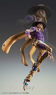Jojo's Bizarre Adventure Super Action Statue Figure 7ème Partie Gyro Zeppeli 1.5