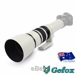 Kelda 500mm F / 6.3 T-mount Super Téléobjectif Pour Objectif De La Caméra Nikon, Canon, Sony, Etc.