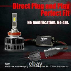Lasfit Led Phare H11 Ampoules De Faisceau Bas 8000lm 6000k Super Bright Ls Plus Série
