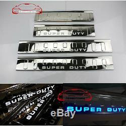 Led 4 Plaque De Protection Des Portes Sill Garde Pour Ford Super Duty F250 F350 F450 09-16