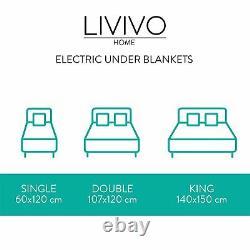 Livivo Super Cosy Couverture Électrique Sous Chauffage Rapide Simple Double Lit King