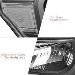 Logement Noir Phare Clair D'angle Signal Pour 11-16 Ford 250 / F350 Super Duty