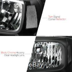 Logement Noir Phare Clair Signal D'angle Pour 05-07 Ford F250 / F350 Super Duty