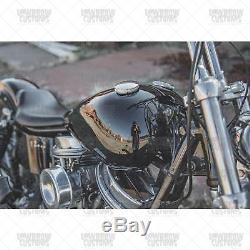 Lowbrow Des Douanes Wx Réservoir De Gaz De Split 36-84 Harley Panhead Hachoir Shovelhead Bobber
