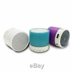 Lumineux Lumières Rechargeable Sans Fil Haut-parleur Portable Bluetooth Mini Super Bass