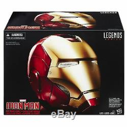 Marvel Legends Casque Électronique Iron Man Masque De Masque De Super Héros Hasbro Wow