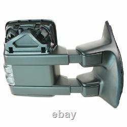 Miroir Pliant Télescopique Électrique Chauffant Tourner Clearance Signal De Remorquage Droit Pour Ford
