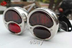 Modèle A Hot Rat Rod Tail Lamp Lights Stop Lens Black Bracket Stalk Camion Personnalisé