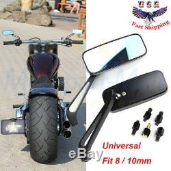 Moto Rectangle Steady 8 Rétroviseurs / 10 MM Pour Honda Suzuki Kawasaki Nous