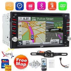 Navigation Bluetooth Radio Double Din 6.2car Stéréo Lecteur De CD / DVD Carte Gratuite