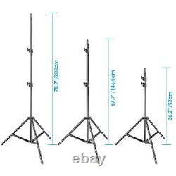 Neewer 2pcs Super Slim Bi-color Dimmable Led Video Light With Light Stand Kit
