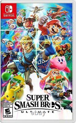 Nouveau Commutateur Nintendo Neon Super Bundle + Mariokart8 + Super Smash Bros + 16 Go