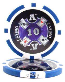 Nouveau Gros Lot De 1000 Ace Casino 14g Clay Poker Chips Choisissez Dénominations